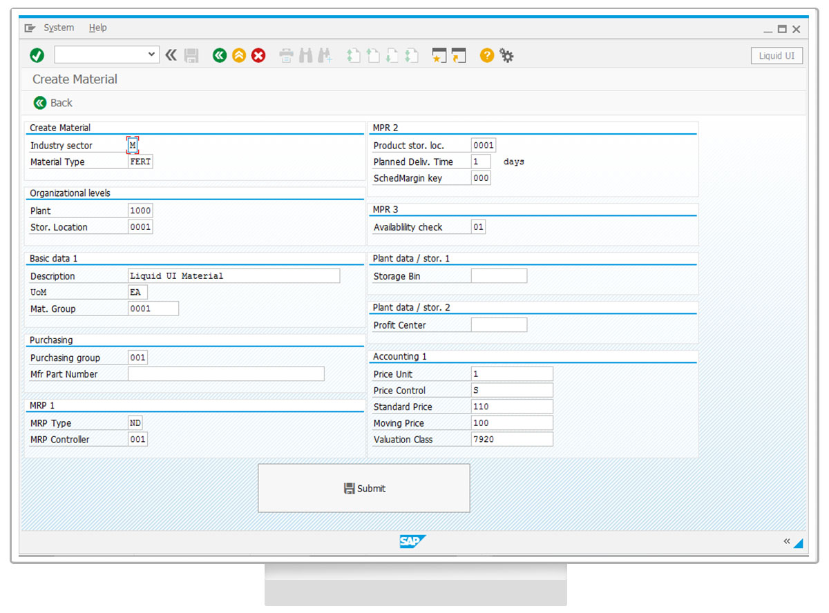 Liquid UI - Efficient SAP WM - Desktop