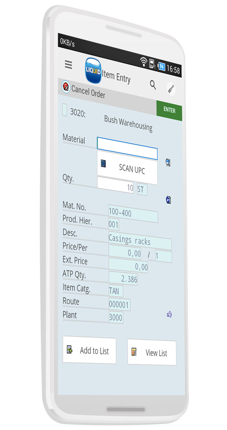 Liquid UI - Efficient SAP WM - Mobile